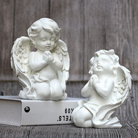 Roman Mythology Cupid Resin Craftwork Statue Creative Prayer Angel Home Decorations Bedroom Bedside Table Ornaments X2119