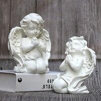 Roman Mythology Cupid Resin Craftwork Statue Creative Prayer Angel Home Decorations Bedroom Bedside Table Ornaments X2119
