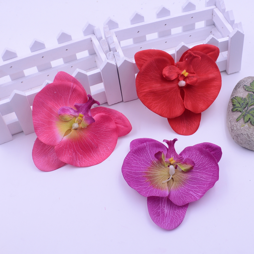 ▽10CM Wholesale 50pcs/lot Silk Artificial Orchid Flower For Home ...