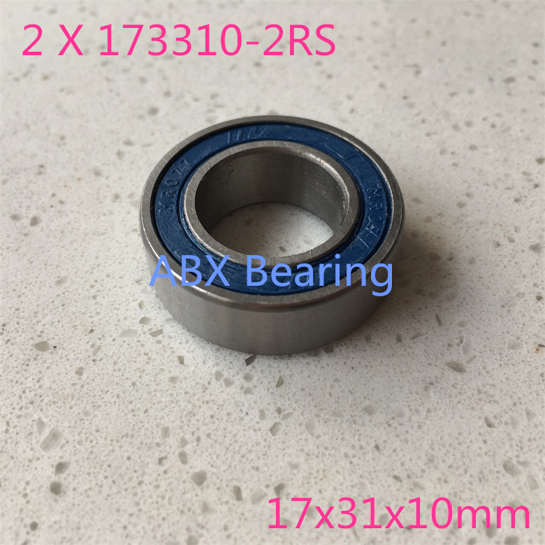 173110-2RS 17x31x10 mm Rubber Sealed Ball Bearing Bearings 173110RS 2 Pcs