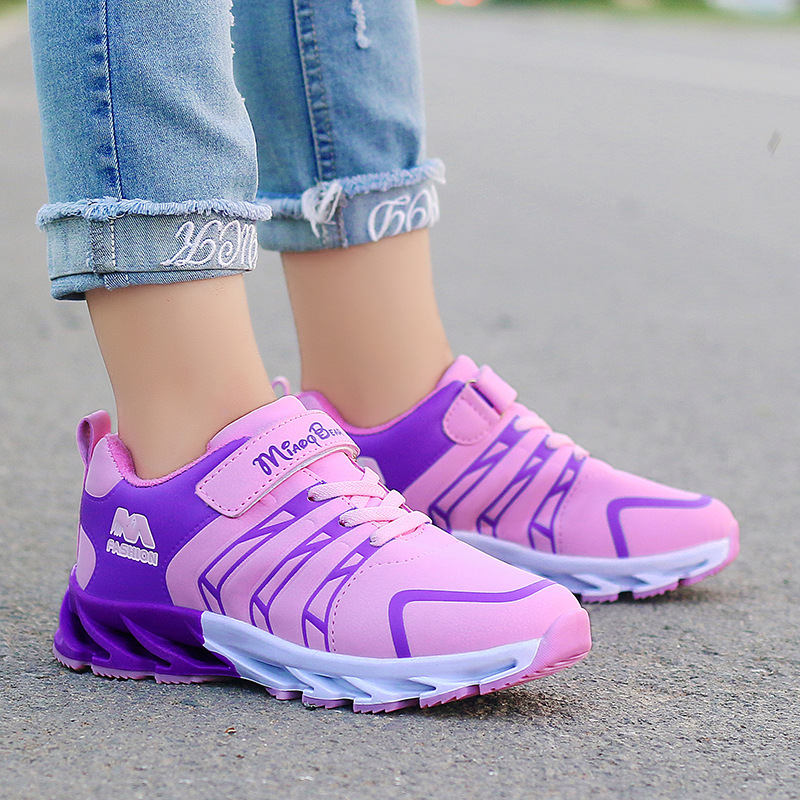 2019 Spring New Children Shoes Girls Sneakers Princess Kids Shoes Fashion Casual Sport Running Leather Child Shoes for girls(China)