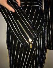 High quality Formal Dress Women's Long Sleeve Luxury Diamonds Beading