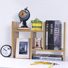 DIY Multi-purpose Desktop Book Shelf Retractable Bookcase Children Student Mini Bookshelf Simple Desktop Storage Rack(China)