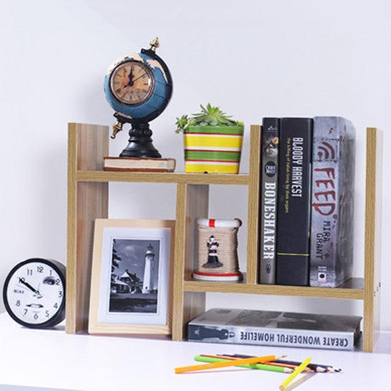 DIY Multi-purpose Desktop Book Shelf Retractable Bookcase Children Student Mini Bookshelf Simple Desktop Storage Rack
