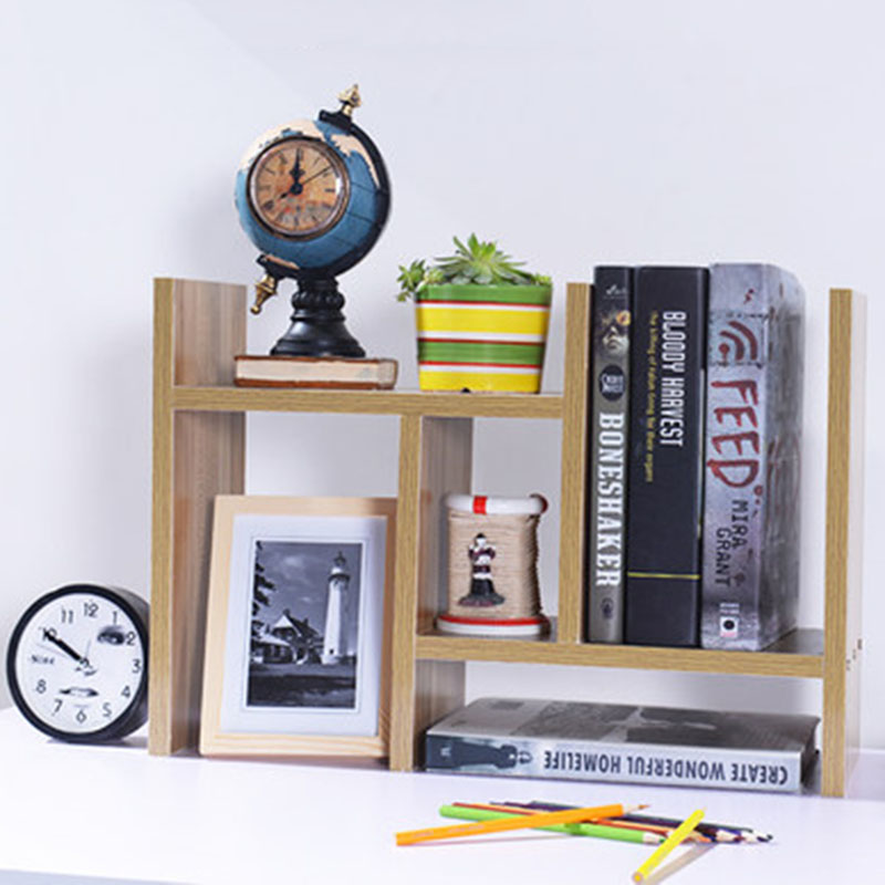 DIY Multi-purpose Desktop Book Shelf Retractable Bookcase Children Student Mini Bookshelf Simple Desktop Storage Rack ...