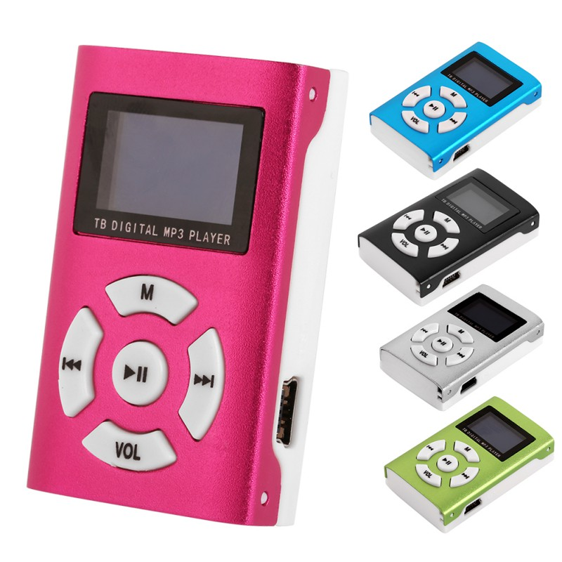 Portable USB Mini MP3 Player LCD Screen Support Micro SD TF Card Slick stylish design Sport Player mp3 with white Headset YH2