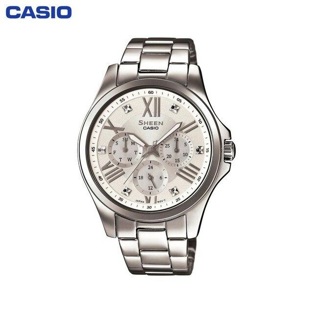 Наручные часы Casio SHE-3806D-7A женские кварцевые на браслете