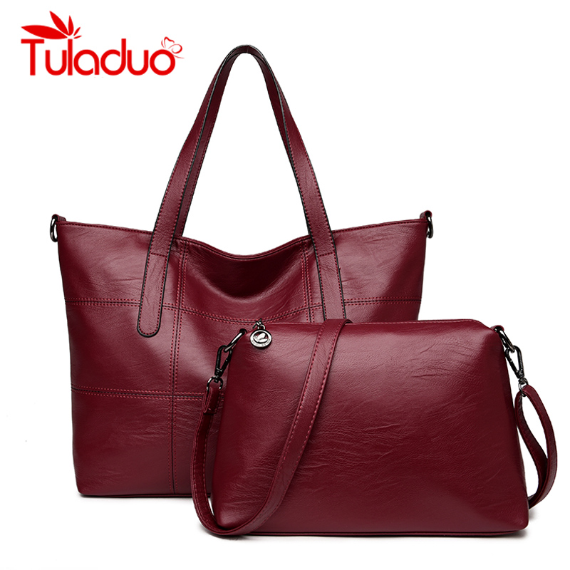 Tuladuo Brand Women Handbags Designer Shoulder Bag High Quality PU Leather Bags Women 2 Sets Ladies Hand Bag Tote Sac 2018 women bag 2015 genuine pu leather bags ladies handbags brand women leather handbags women shoulder bag tote bag b30