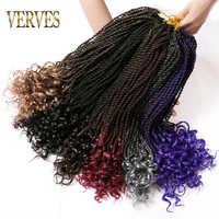 VERVES 1 paquet ombre sénégalaise torsion crochet tresses cheveux 18 pouces 30 brins/paquet synthétique en vrac tressage extensions de cheveux