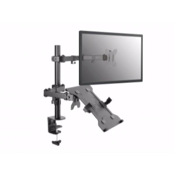 Écran Soporte à la Table 13-32 bras à Double articulation prend en charge 2 moniteurs (support pour ordinateur portable inclus) VESA Standard H