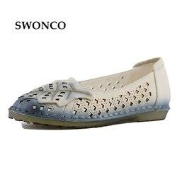 Respirant Détouré Plat Mère Chaussures 2017 Nouveau Véritable En Cuir Souple Confortable Femelle Loisirs Daily Chaussures Sandales 41 Grande Taille