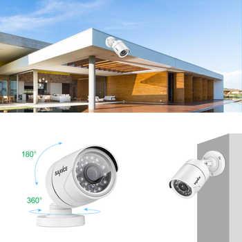SANNCE 8CH 720P AHD DVR 4PCS 1200TVL IR Night Vision Outdoor CCTV Camera 24 LEDs Home Security CCTV System Surveillance Kit DT