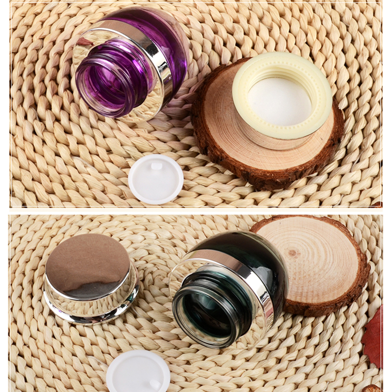 Купить с кэшбэком High-grade 20g 30g 50g Glass Bottle Cream Jars Empty Cosmetic Container Great Jar for DIY Lotions Creams Lip Balm Salves 10pcs