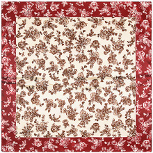 Chinese Style Small Flowers Scarf Silk Feeling 90cm Scarves Match Apparel Accessory Woman Girl s Add