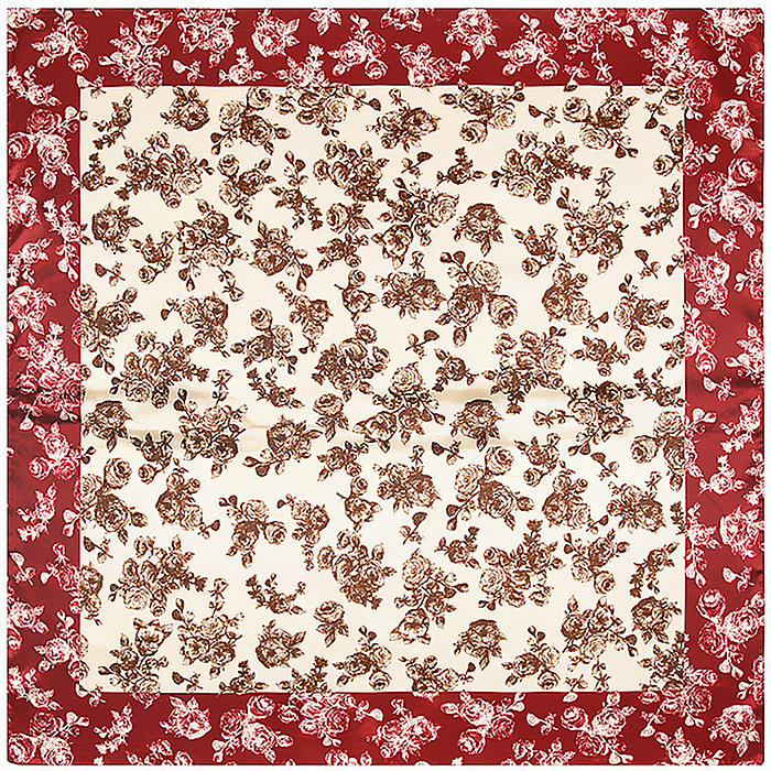 Chinese Style Small Flowers Scarf Silk Feeling 90cm Scarves Match Apparel font b Accessory b font