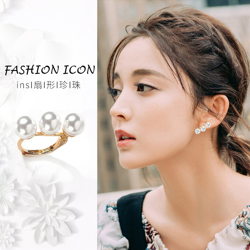 Cute Simple Sector Imitation Pearl Earrings 2019 Womens Earring Korean Fashion Female Jewelry Accessories For Women Girl Gifts