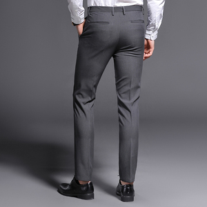 Image 5 - 2018 New Slim Fit Men Pants Stretch Trousers Mens Sunmmer High Quality Classic Casual Clothes Formal Straight Suits Long Pant