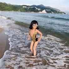 Swimsuit Girls Swim-Wear One-Piece Children's Summer New Fashion YZ19001 Lace Backless