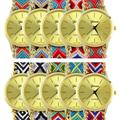 2017 Genebra das Mulheres Mistura De Algodão Étnica Artesanal Trançado Cadeia de Quartzo Analógico Pulseira Relógio de Pulso Vestido Ladie Assistir Venda Quente