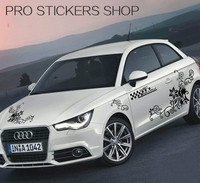 Hot Sale Reflective Personality Flowers Vehicle Bonnet Hood Body Window Car Styling Golf 7 Removable Car