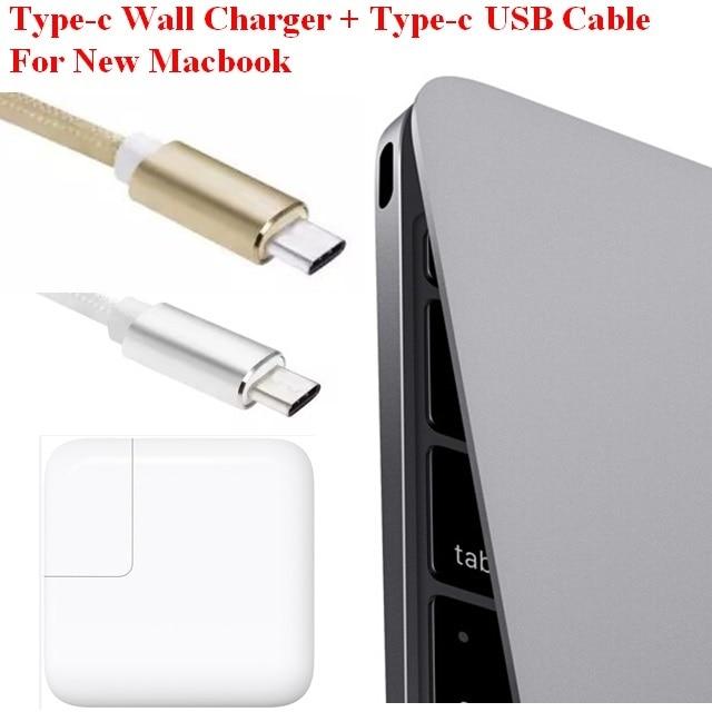 """bilder für USB 3.1 Typ C Ladegerät USB-C Netzteil mit Ladekabel für Macbook 12 """"29 Watt"""