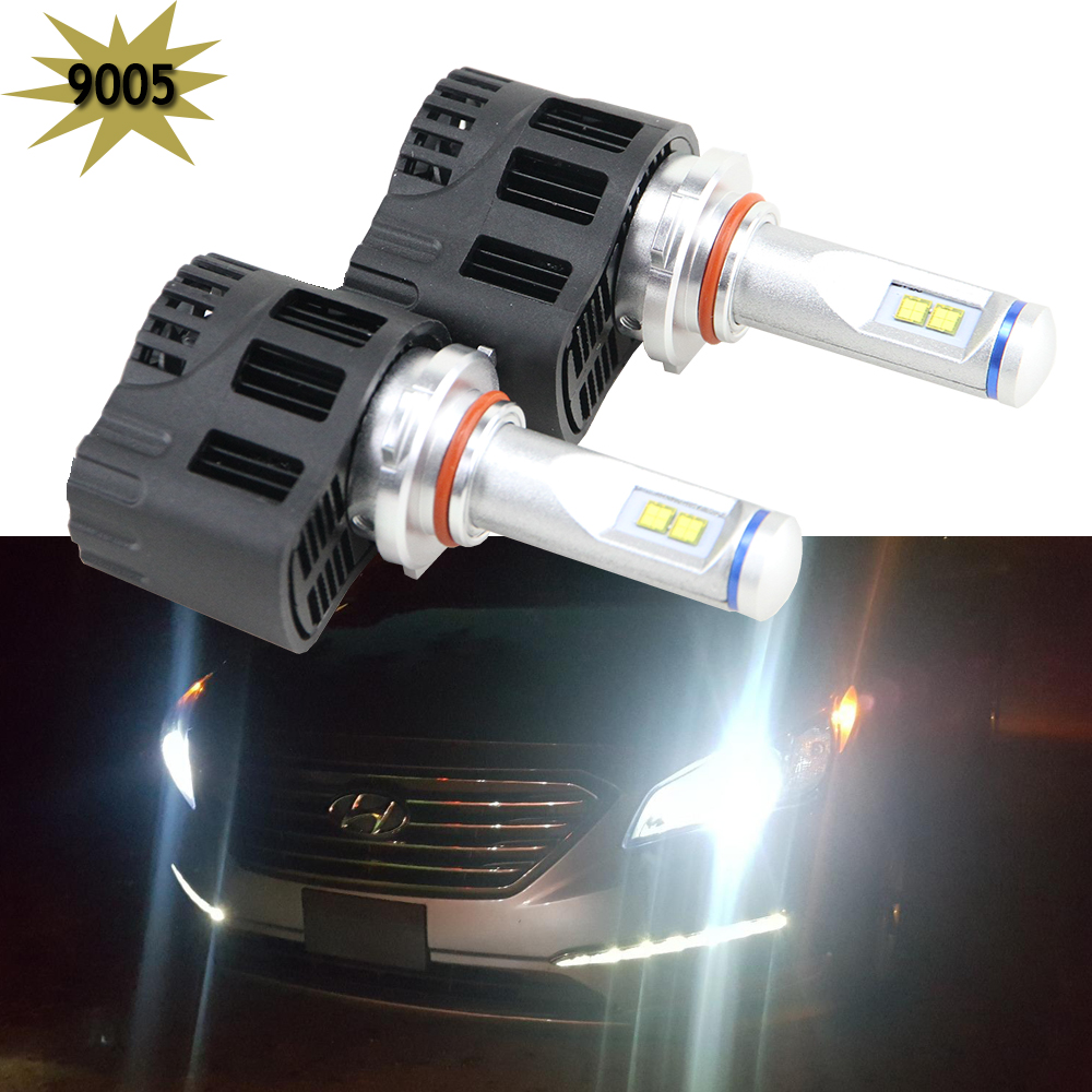 Super Bright 55W High Power ZES Chips 9005 HB3 LED Headlight Conversion Kits 12V 5000K car Lighting Replace Halogen HId Bulbs