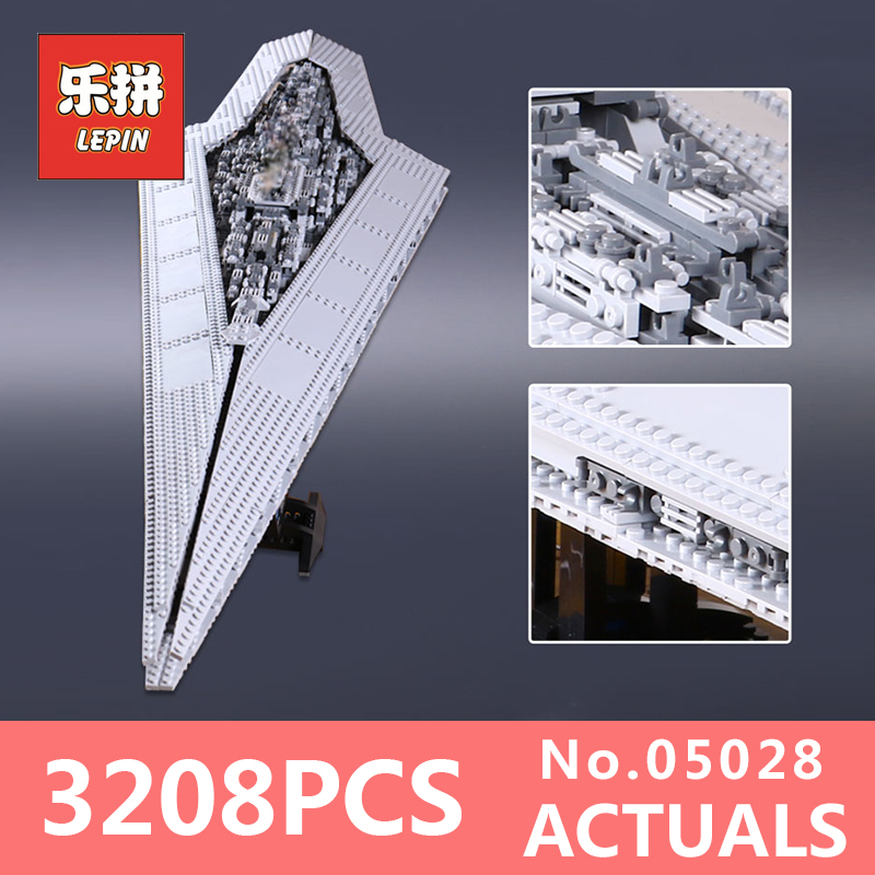 Lepin 05028 Star 3208Pcs Wars Building Blocks toy Execytor Imperial Super Star Destroyer Model Block Bricks LegoINGlys 10221 05028 star wars execytor super star destroyer model building kit mini block brick toy gift compatible 75055 tos lepin
