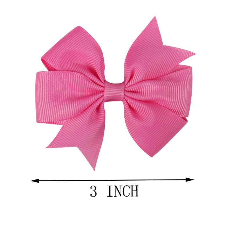 CN 5 unids/lote venta Baby Candy lazo de lazo colorido niñas lindas horquillas niños Clip de pelo accesorios para el cabello Headwear 40 colores