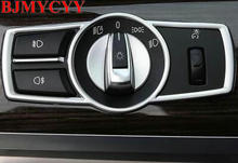 BJMYCYY Car Headlight Switch frame decorative cover trim Car styling 3D sticker decal For BMW 5/7 series 5GT X3 F25 /X4 F26 E60