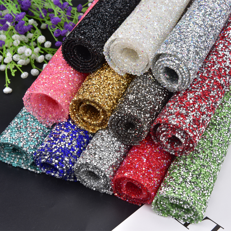 24 40cm Roll Resin Rhinestone Trim Mesh Wedding Decoration Stone And Crystal  Applique Beaded 00575be905de