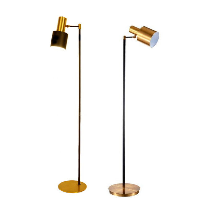 Toolery Retro Industrial Floor Lamp Creative Led Floor Light Brass Color Standing Lamp Living