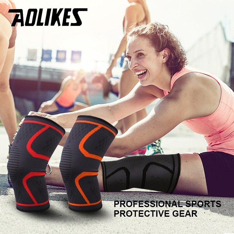 1 par de Fitness de Nylon elástico de compresión de KneePad ciclismo rodilla apoyo Sports manga voleibol proteger
