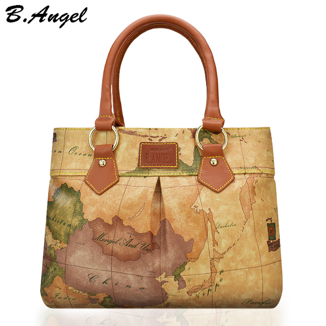 High quality world map women bag fashion women messenger bags high high quality world map women bag fashion women messenger bags high capacity handbag brand bags design gumiabroncs Choice Image