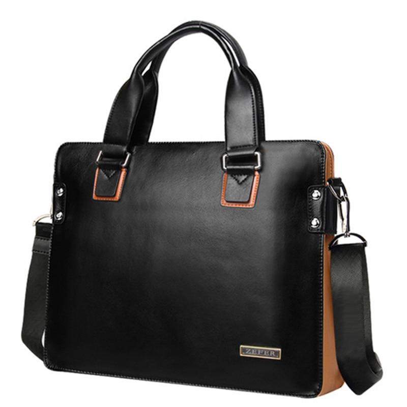ФОТО Designer Fashion Vintage Men's Leather Bags Briefcase Shoulder Messenger Bags Handbags Cross Body Laptop Bags 2017 NEW