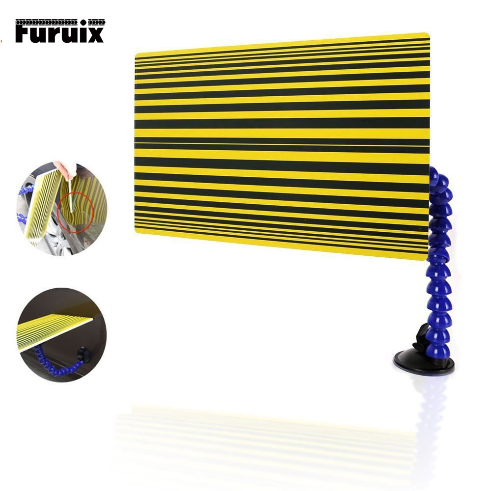 Auto Repair Tool Reflector Board Dent Repair Tools - Yellow Paintless Dent Removal Checking Line Board