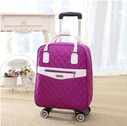 Bagaj ve Çantalar'ten Seyahat Çantaları'de Tekerlekli çanta seyahat Kadınlar için seyahat sırt çantası tekerlekler ile tekerlekli çantalar Oxford büyük kapasiteli Seyahat Haddeleme Bagaj Bavul Çantası'da  Grup 3