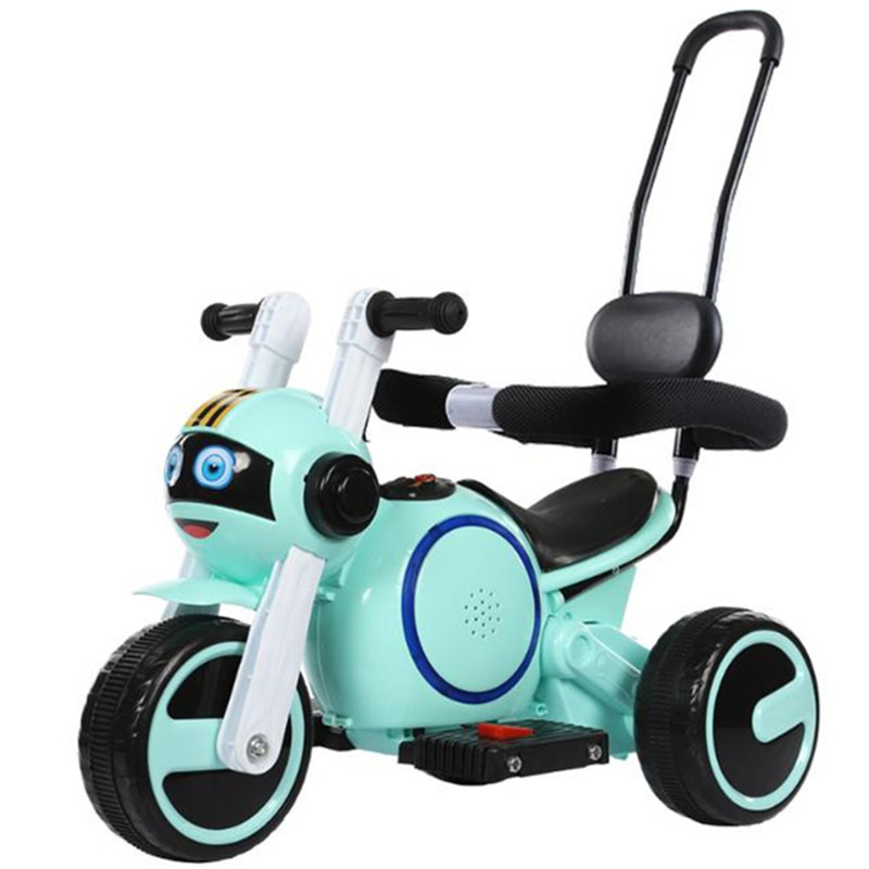 Child electric motorcycle tricycle 1-5 years old rechargeable boys and girls toy children ride on car baby stroller 2 in 1 the new children s relectric car tricycle motorcycle baby toy car wheel car rechargable stroller drive by foot pedal with music