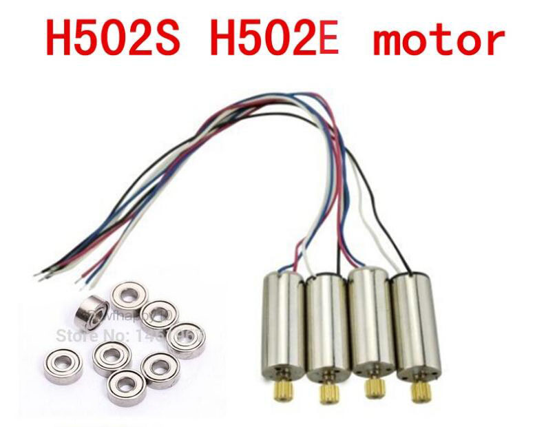 8pcs Upgrade Bearing + 4pcs Engines Motor For Hubsan X4 H502E H502S H216A H507A Quadcopter RC Spare Parts