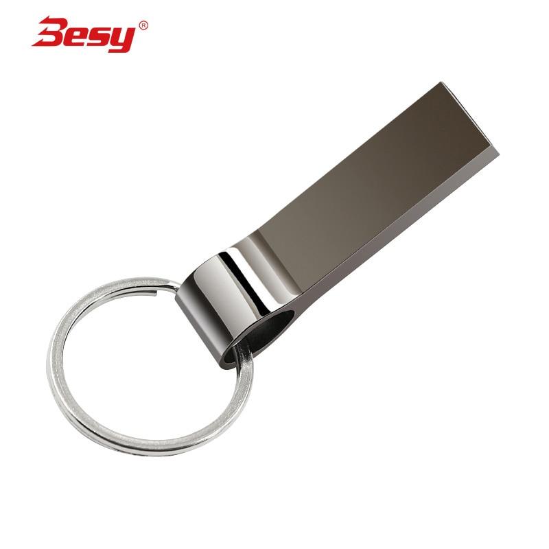 New usb flash drive 32GB flash memory 2.0 high speed pen drive 4gb 8gb 16gb 64gb 128gb pendrive metal bracelet stick