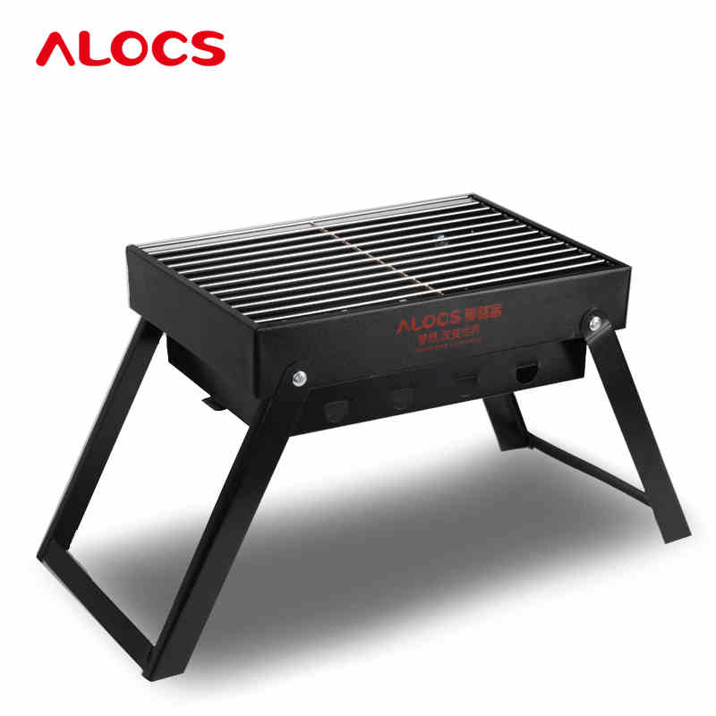 Outdoor Cold Rolled Plate Burn Oven Camping BBQ Grill Portable Folding Charoal Grills Carbon Ovens 1.4KG Safety Health hewolf portable size outdoor camping beach bbq barbecue grill rack household use lightweight folding picnic rack stand well sell