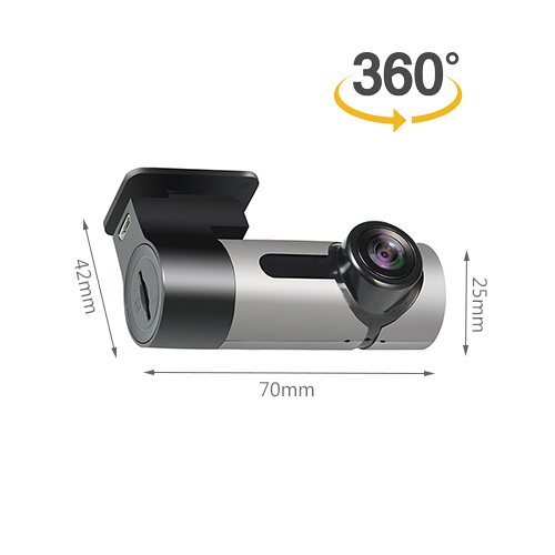 1080P Mini Type 360 Degree Panoramic 128G Max. Car Dash Cam DVR Car Recorder Car Tachograph With Wifi
