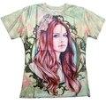 Homens mulheres flores Lana del rey impressão 3d t camisa Unisex t Harajuku t-shirt de manga curta plus size S-XXL camisa masculina