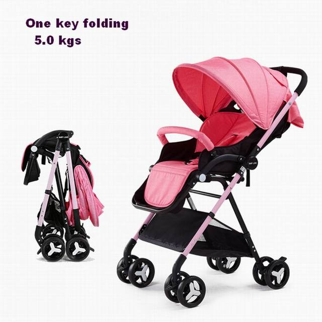 Dearie babe stroller baby ultra-light portable folding stroller baby bb hadnd car umbrella