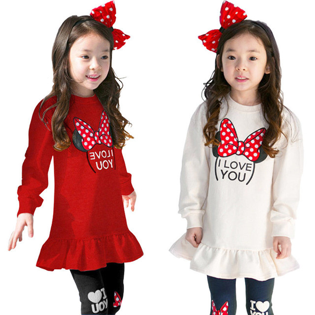6d7fd82a4 girls clothes kids clothes toddler girl clothes Hipster cartoon bow two  piece suit Cute girl two-piece suit