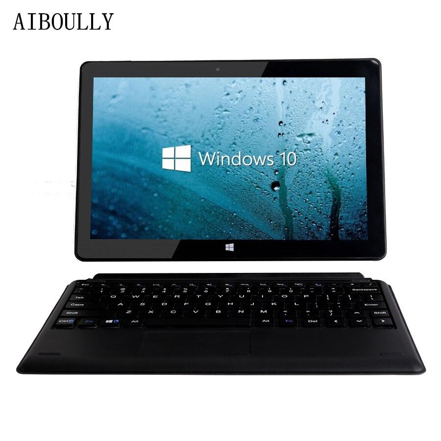 10 AIBOULLY 10.1 polegada Dupla OS Tablet PC Win Tablet Quad Núcleo Cereja Trilha X5-Z8350 Janelas 10 & Android 5.1 gb Rom Wifi HDMI 10 64
