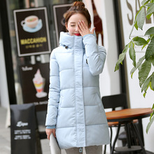 Winter Women's Clothing new Long section Large size Slim Thick section Cotton clothing Parkas jacket