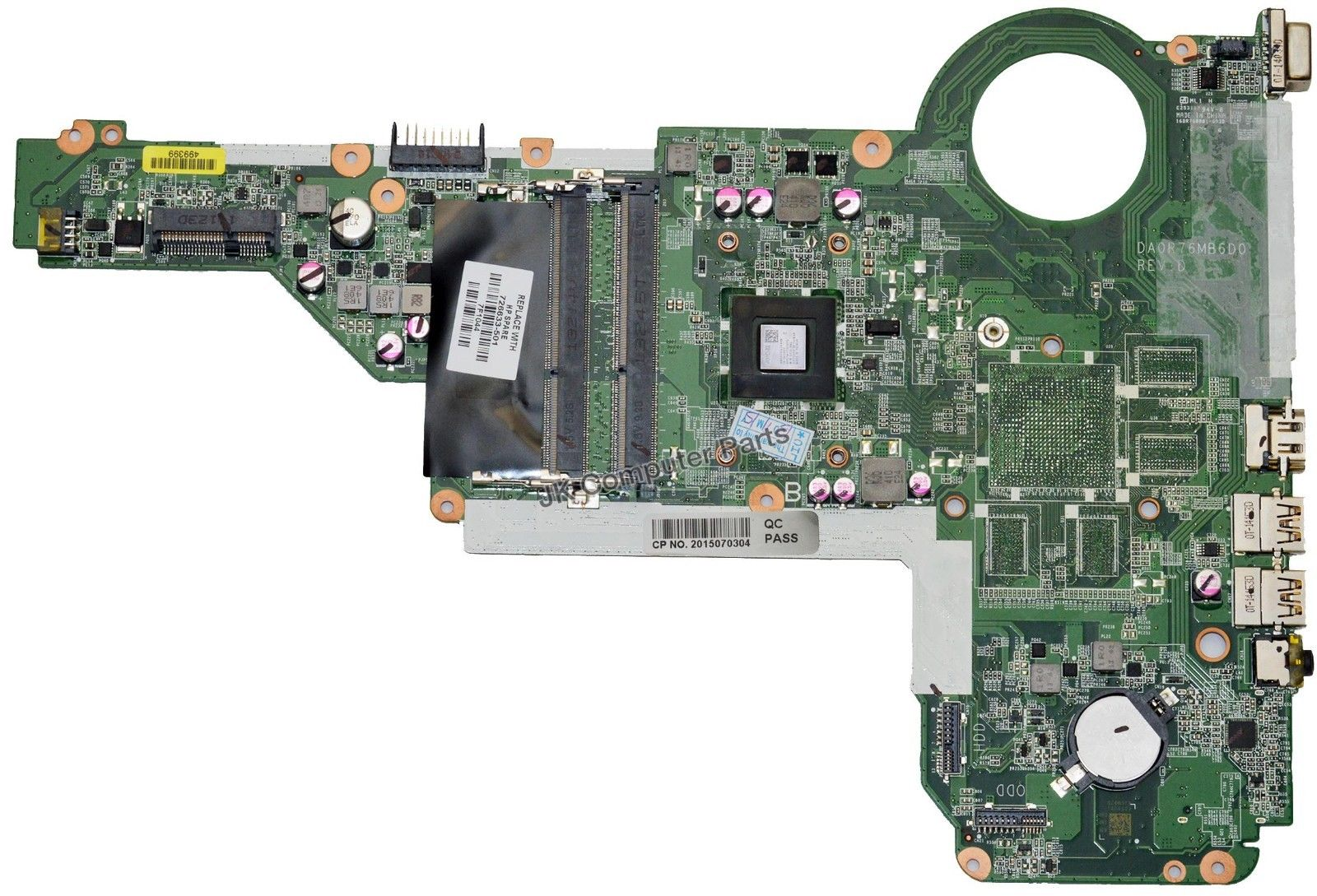 SHELI laptop Motherboard For HP PAVILION 15 17 15-E 17-E 726633-501 DA0R76MB6D0 A6-5200M CPU 100% fully tested
