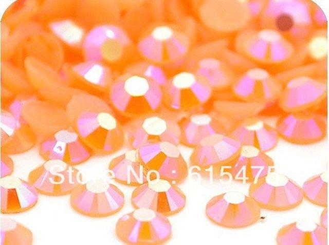 5mm Geléia de Pêssego AB Cor SS20 strass Resina cristal flatback, Nail Art Pedrinhas, 30,000 pçs/saco