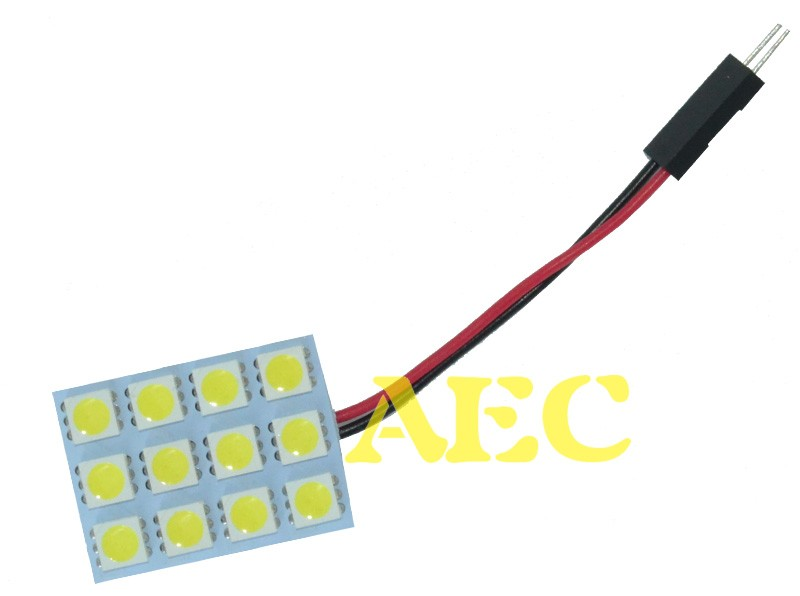 10 satz//los Dome Steuerung led 12 SMD 5050 Panel LED 12SMD Auto Interior Roof leseleuchte 12 V weiß mit Festoon T10 2 Adapter