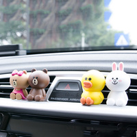 1pcs Cartoon Air Freshener Cute Rabbit Toys Fragrance Car Perfumes 100% original Flavoring In the Car from Korea profumo auto